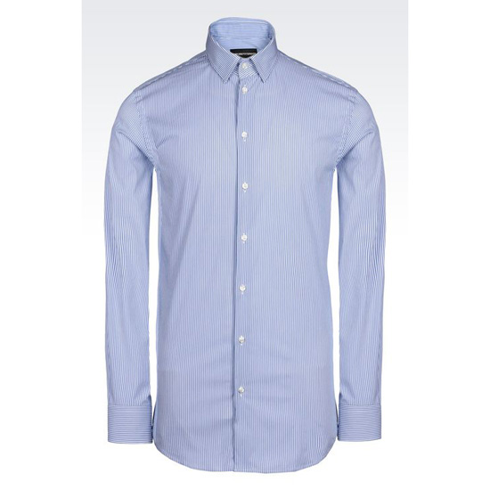 ARMANI SHIRT IN MICRO FANCY WEAVE COTTON