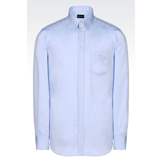 ARMANI REGULAR FIT COTTON TWILL SHIRT