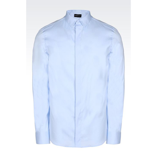 ARMANI SLIM FIT SHIRT IN STRETCH COTTON POPLIN