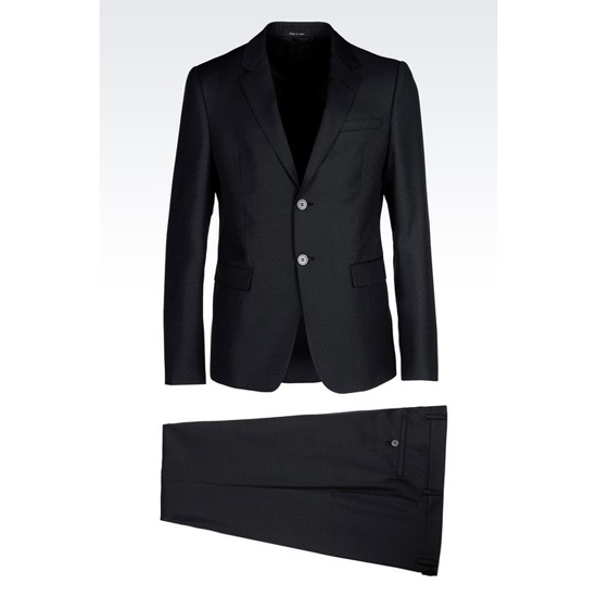 ARMANI SINGLE-BREASTED SUIT IN VIRGIN WOOL