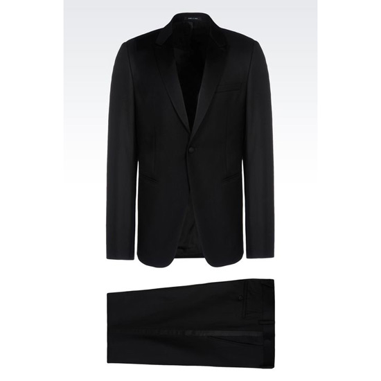 ARMANI TUXEDO IN WORSTED WOOL WITH SATIN DETAILS