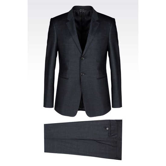 ARMANI SINGLE-BREASTED SUIT IN WOOL BLEND