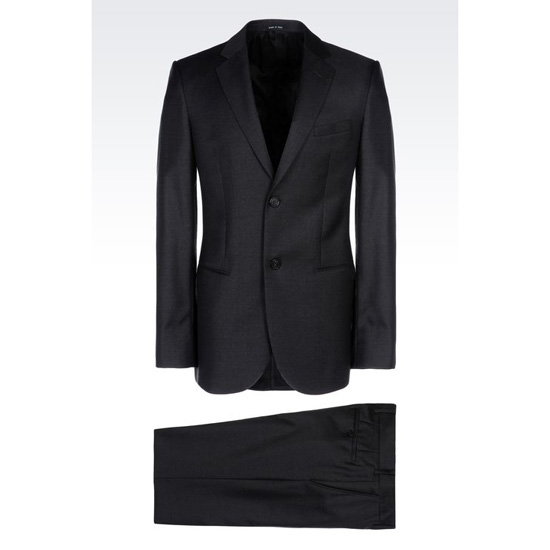 ARMANI SINGLE-BREASTED SUIT IN WORSTED WOOL