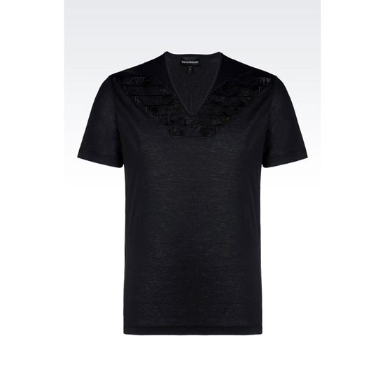 ARMANI V-NECK T-SHIRT IN LIGHT JERSEY
