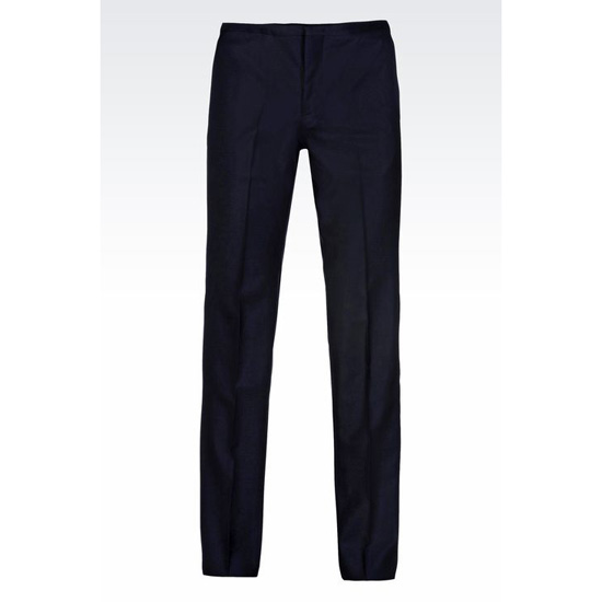 ARMANI WORSTED WOOL TROUSERS