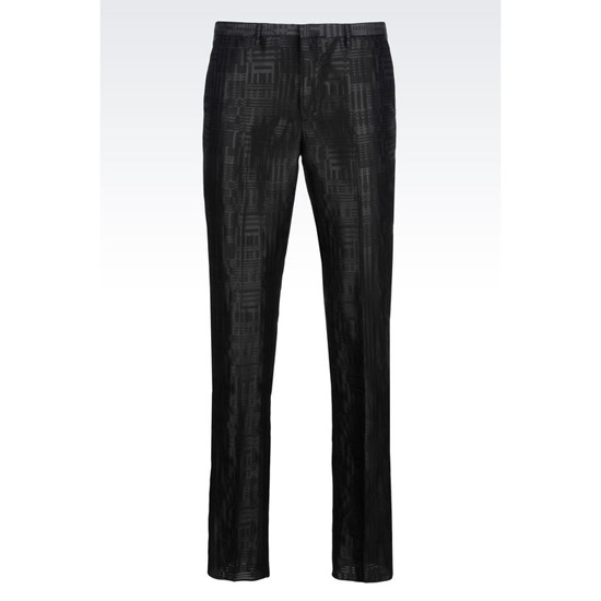 ARMANI RUNWAY TROUSERS IN JACQUARD WOOL