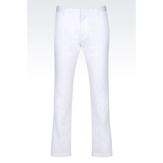 ARMANI WOVEN COTTON TROUSERS