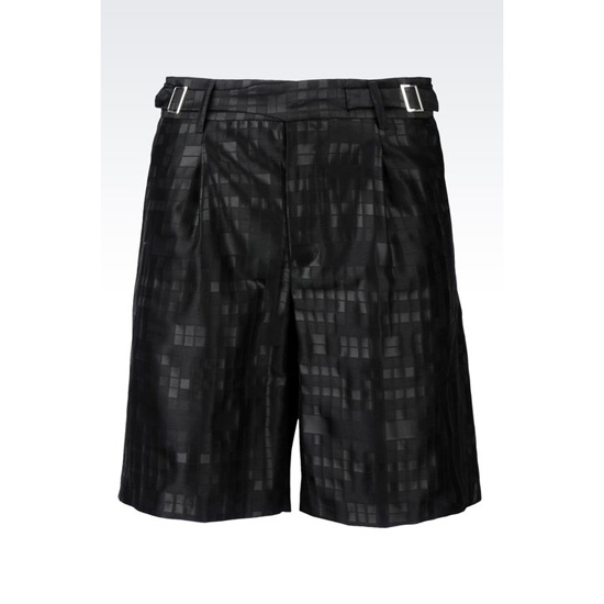 ARMANI RUNWAY BERMUDA SHORTS IN JACQUARD WOOL