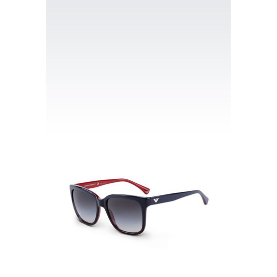 ARMANI SUNGLASSES IN ACETATE WITH SQUARE LENSES