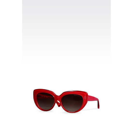 ARMANI CAT-EYE ACETATE SUNGLASSES