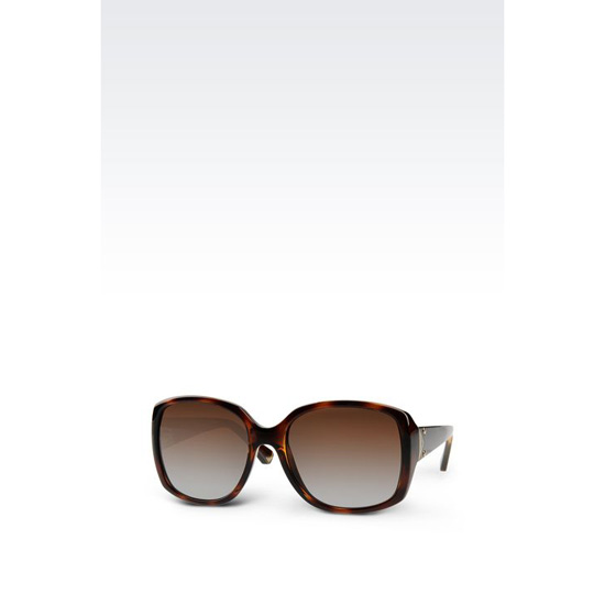 ARMANI ACETATE SUNGLASSES WITH SQUARE LENSES