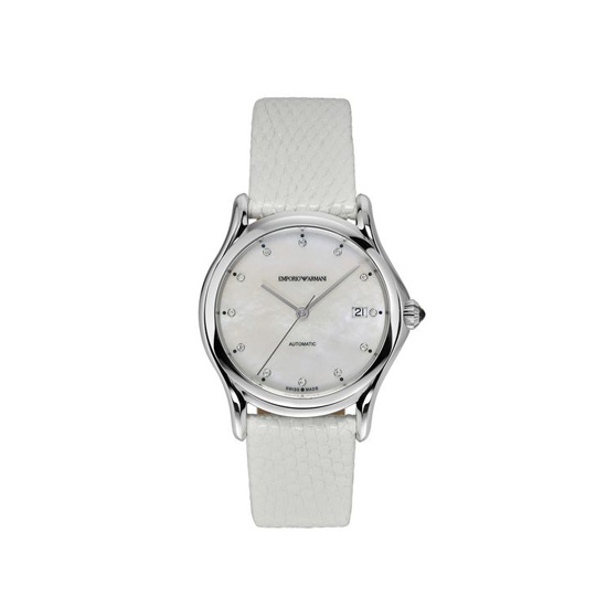 ARMANI SWISS MADE AUTOMATIC WATCH WITH LIZARD STRAP