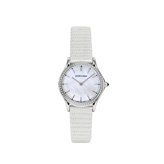 ARMANI SWISS MADE QUARTZ WATCH WITH LIZARD STRAP