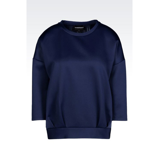 ARMANI TECHNICAL JERSEY SWEATSHIRT WITH PLEATED DETAILING