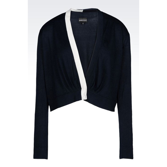 ARMANI CARDIGAN IN SILK AND COTTON
