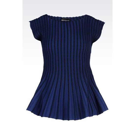 ARMANI PEPLUM SWEATER IN VISCOSE BLEND
