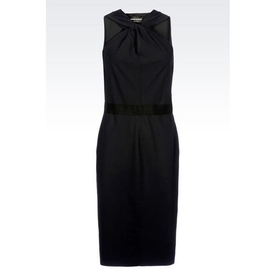 ARMANI DRESS WITH KNOTTED NECKLINE