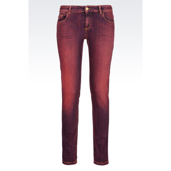 ARMANI SUPER SKINNY USED EFFECT JEANS