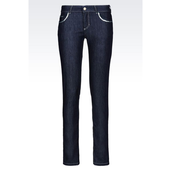 ARMANI SUPER SKINNY DARK WASH JEANS