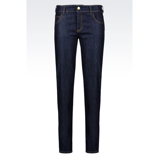 ARMANI SLIM FIT DARK WASH JEANS