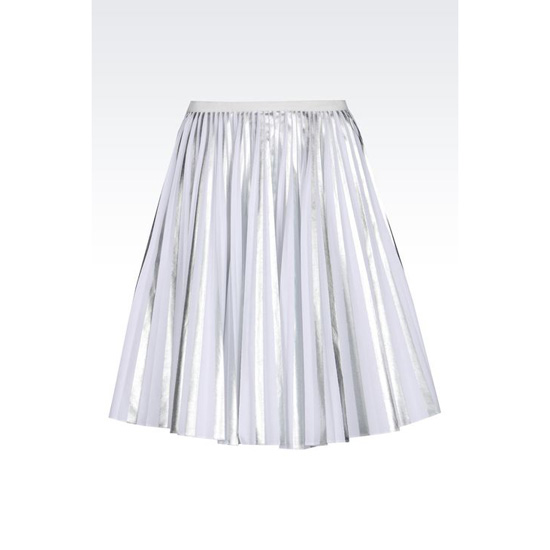 ARMANI PLISSÉ SKIRT IN LAMINATED STRETCH TWILL