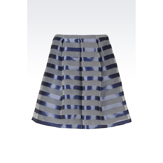 ARMANI RUNWAY SKIRT IN ORGANZA EFFECT STRIPED LUREX