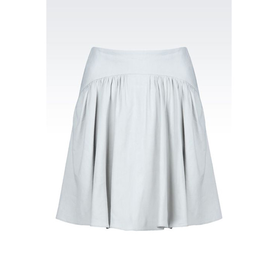 ARMANI SKIRT IN STRETCH LINEN BLEND