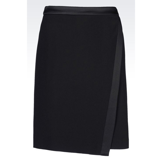 ARMANI WRAPAROUND SKIRT IN CADY