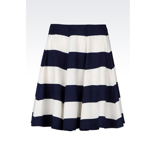 ARMANI SKIRT IN STRIPED MILANO RIB