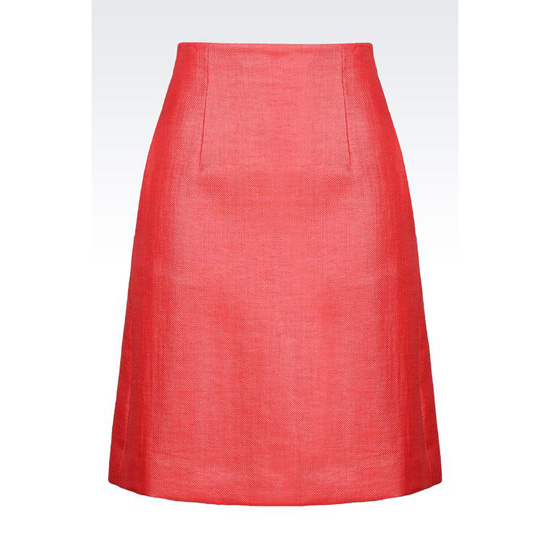 ARMANI HIGH WAIST SKIRT WITH RAFFIA EFFECT