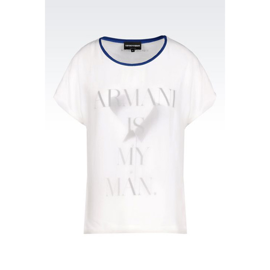 ARMANI T-SHIRT IN PRINTED COTTON