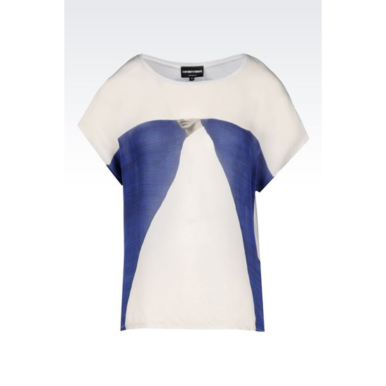 ARMANI T-SHIRT IN COTTON AND SILK