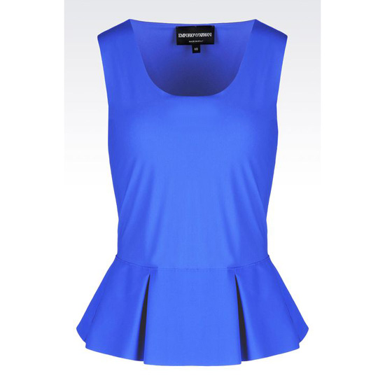 ARMANI PEPLUM TOP IN TECHNICAL FABRIC