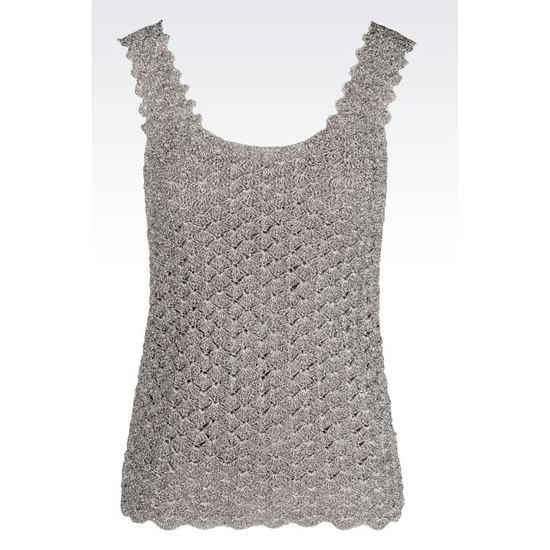 ARMANI CROCHETED TOP