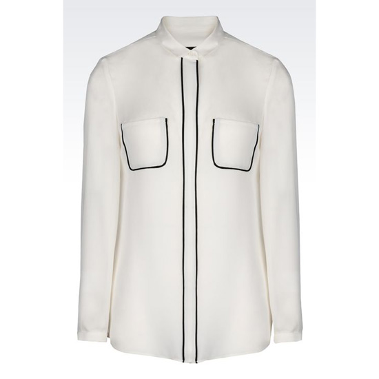 ARMANI SHIRT IN SILK CRÊPE DE CHINE