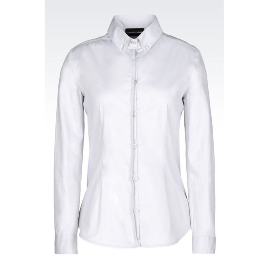 ARMANI BUTTON-DOWN SHIRT IN STRETCH OXFORD