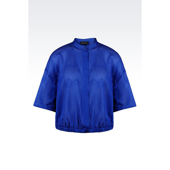 ARMANI SHIRT IN MICRO-CHECK SILK AND COTTON