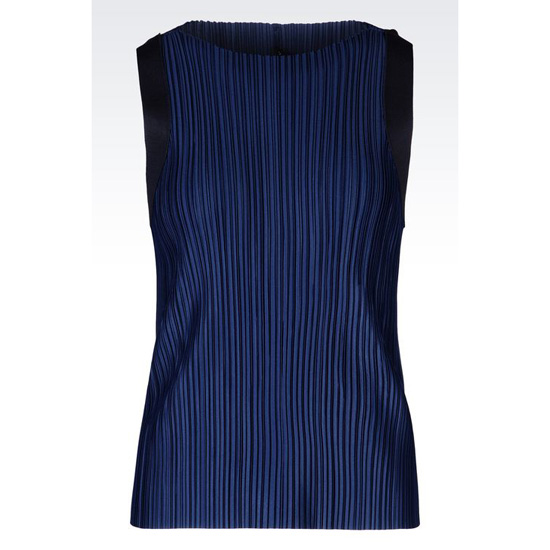 ARMANI PLISSÉ TOP IN JERSEY