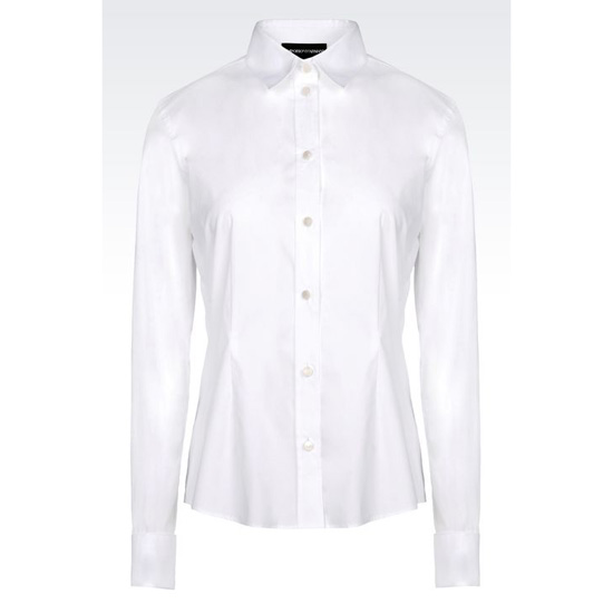 ARMANI CLASSIC SHIRT IN STRETCH POPLIN