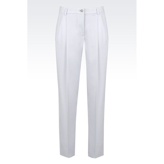 ARMANI TROUSERS IN STRETCH WOOL