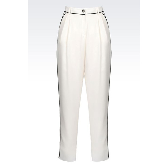 ARMANI ANKLE-LENGTH TROUSERS IN SILK CRÊPE DE CHINE