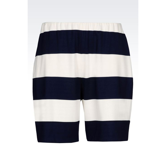 ARMANI RUNWAY BERMUDA SHORTS IN STRIPED MILANO JERSEY