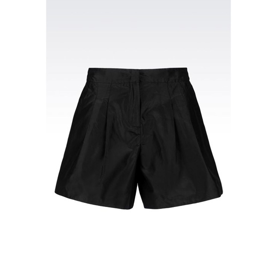 ARMANI SHORTS IN SILK TAFFETA