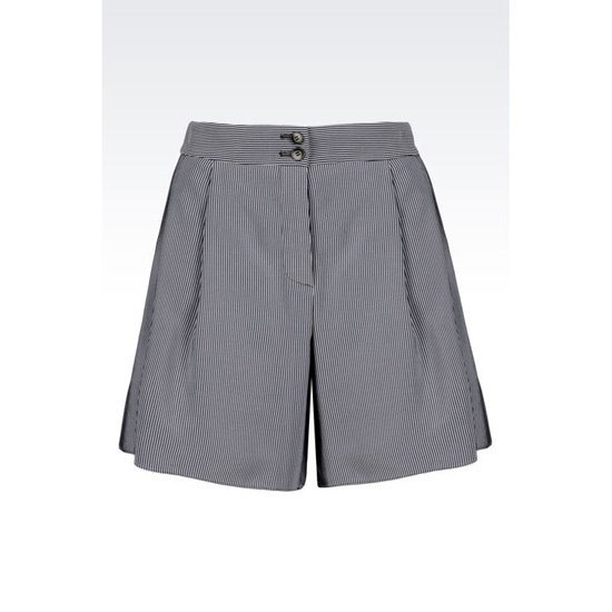 ARMANI LOOSE SHORTS IN MICRO STRIPED CADY