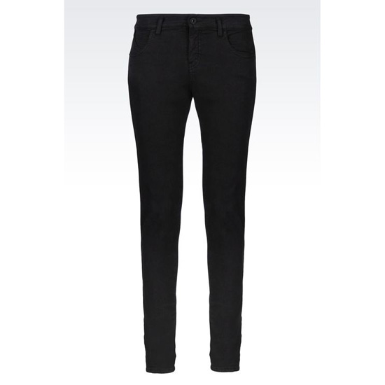 ARMANI SUPER SKINNY JEANS IN TWILL WITH ANKLE ZIPS