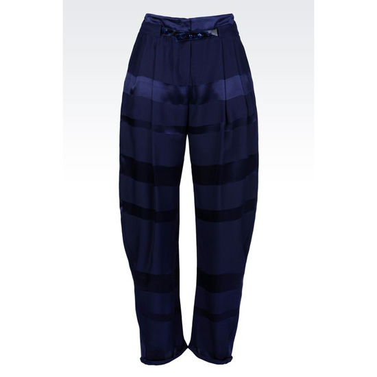 ARMANI RUNWAY TROUSERS IN STRIPED SILK