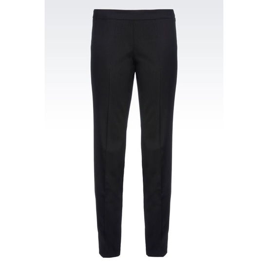 ARMANI CIGARETTE TROUSERS IN STRETCH WOOL