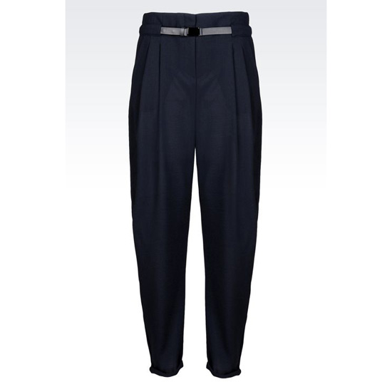 ARMANI TROUSERS IN WOOL CRÊPE