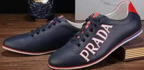 Prada Casual Shoes Calfskin Leather PD392 Blue