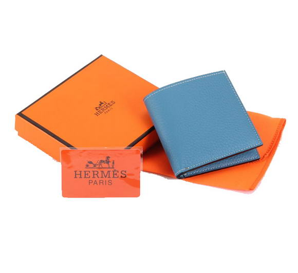 Hermes MC Socrate Wallet H6002 Blue